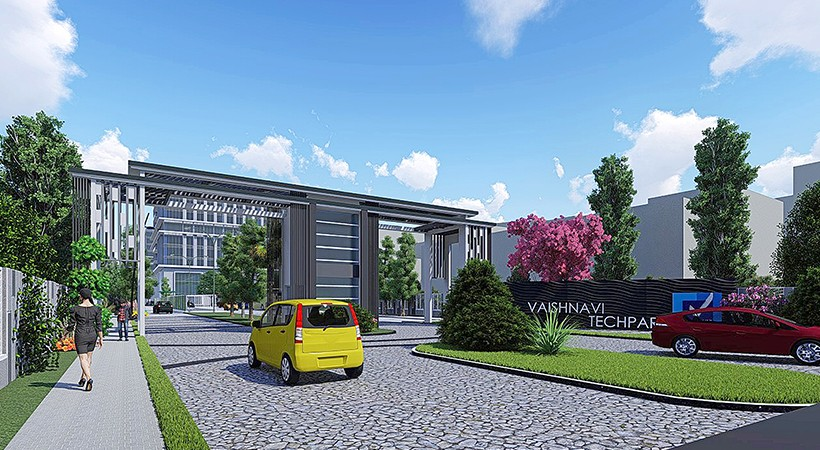 Vaishnavi Tech Park front view | Commercially available Office Space is now ready to occupy at Sarjapur Road, bengaluru