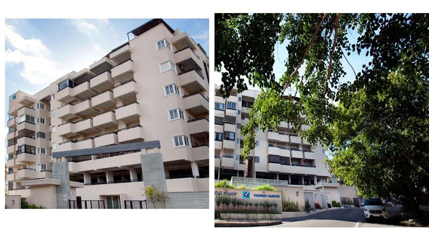 Vaishnavi Sarovar entrance | Vaishnavi Group | Luxury 2 BHK & 3 BHK Apartments for sale in Yadavagiri, Mysore