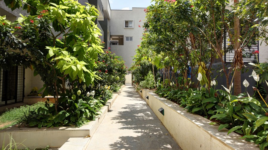 Vaishnavi Orchids walking lane area | Best Ready to move 3 BHK & 4 BHK villas are for sale at Sarjapur Road, bengaluru