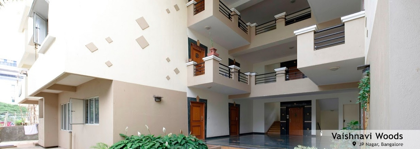 Vaishnavi Woods | Ready to Occupy Spacious 1, 2 BHK flats are for sale at the IT corridor in JP Nagar, Bengalore by Vaishnavi Group