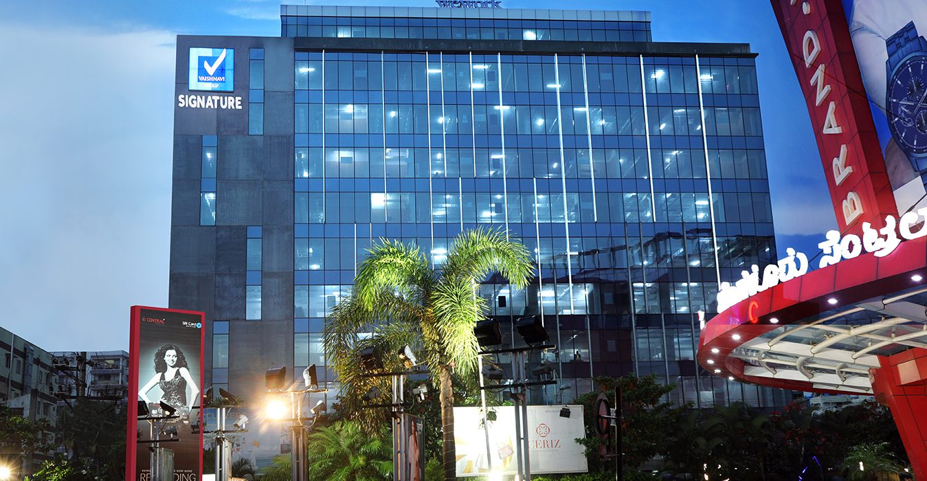 Vaishnavi Signature | Best Corporate Office place in Bellandur, bengaluru | cutting edge design that conveys the message of a triumph of commercial aspirations