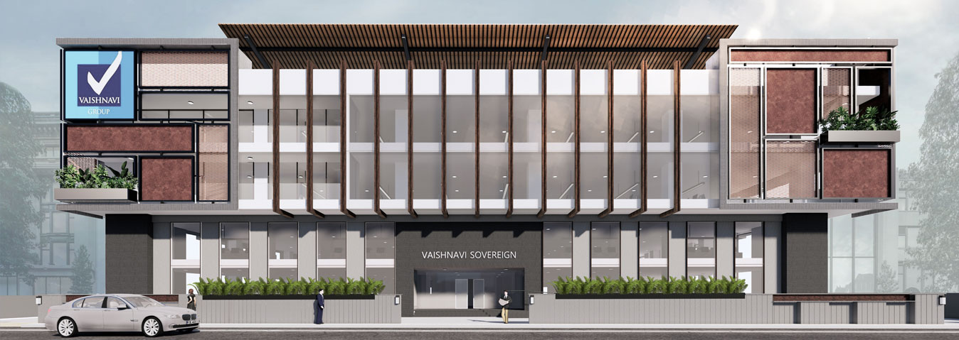 Vaishnavi Sovereign front view | Spacious Workplace for your Business is now available to occupy at Green Layout, bengaluru