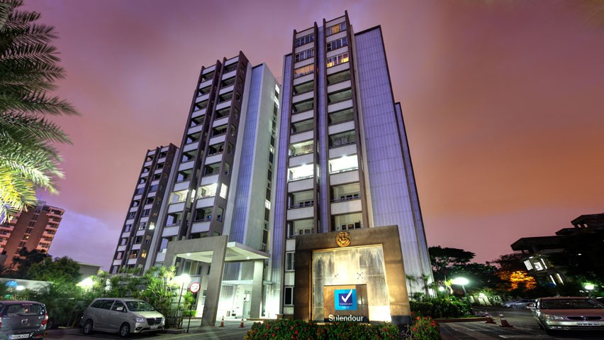 Vaishnavi Splendour night front view | Vaishnavi Group | Luxury 3 BHK & 4 BHK flats are for sale in RMV Layout, bengaluru