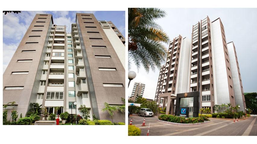 Vaishnavi Splendour daylight bottom to top view | Vaishnavi Group | Luxury 3 BHK & 4 BHK flats are for sale in RMV Layout, bengaluru