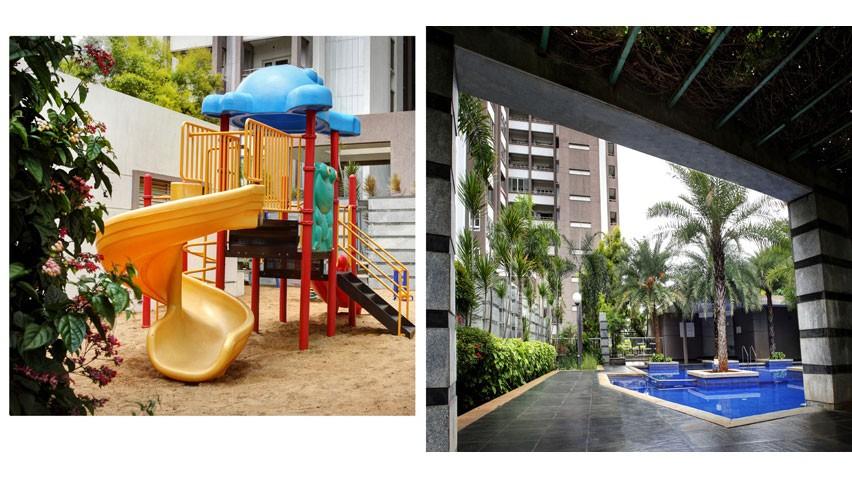 Vaishnavi Splendour Play area | Vaishnavi Group | Luxury 3 BHK & 4 BHK flats are for sale in RMV Layout, bengaluru