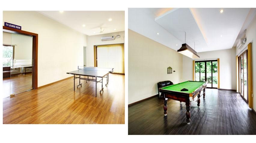 Vaishnavi Splendour Indoor games | Table tennis | Billiards | Luxury 3 BHK & 4 BHK flats are for sale in RMV Layout, bengaluru