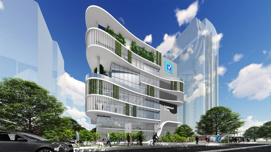 Vaishnavi Icon front view zoom out | Best Corporate officeplace is now available to occupy at Richmond Road, bengaluru