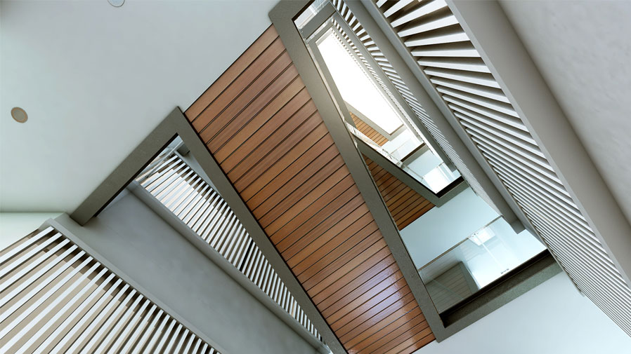 Vaishnavi Prime staircase bottom to top view | luxurious 3 BHK ready to occupy flats are for sale at Langford, bengaluru