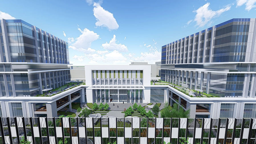 Vaishnavi Tech Park front top view | Commercially available Office Space is now ready to occupy at Sarjapur Road, bengaluru