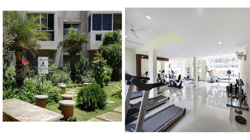 Vaishnavi Rathnam Gymnasium view   Luxury 2 BHK & 3 BHK flats are for sale in Jalahalli West, bengaluru