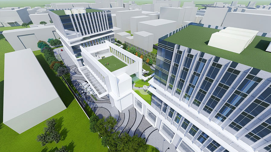 Vaishnavi Tech Park right side top view | Commercially available Office Space is now ready to occupy at Sarjapur Road, bengaluru