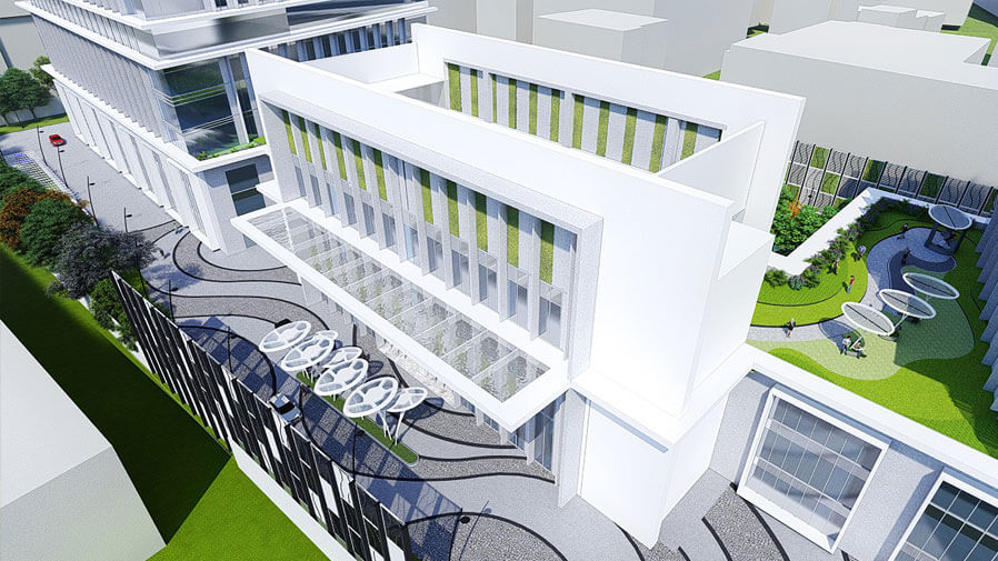 Vaishnavi Tech Park main building | Commercially available Office Space is now ready to occupy at Sarjapur Road, bengaluru