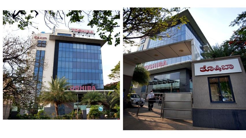 Vaishnavi Solitaire building entrance | Spacious office place for your Organization now occupied by Toshiba at Koramangala, bengaluru