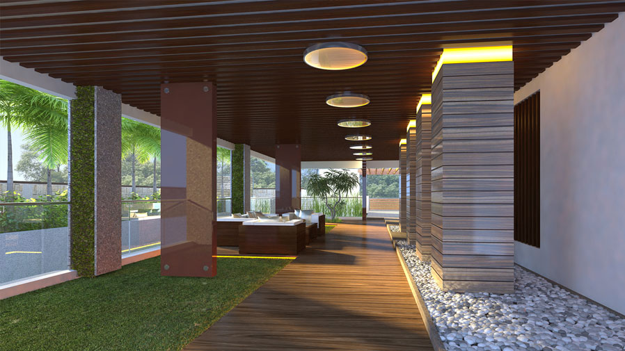 Vaishnavi Prime model common living cum walk area | luxurious 3 BHK ready to occupy flats are for sale at Langford, bengaluru