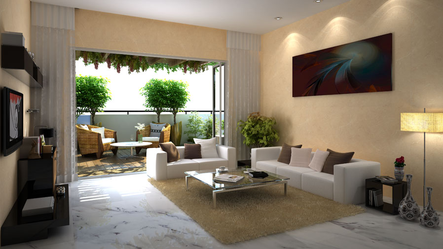 Vaishnavi Terraces living area | Vaishnavi Group | Luxury 3 BHK & 4 BHK flats for sale in JP Nagar, bengaluru