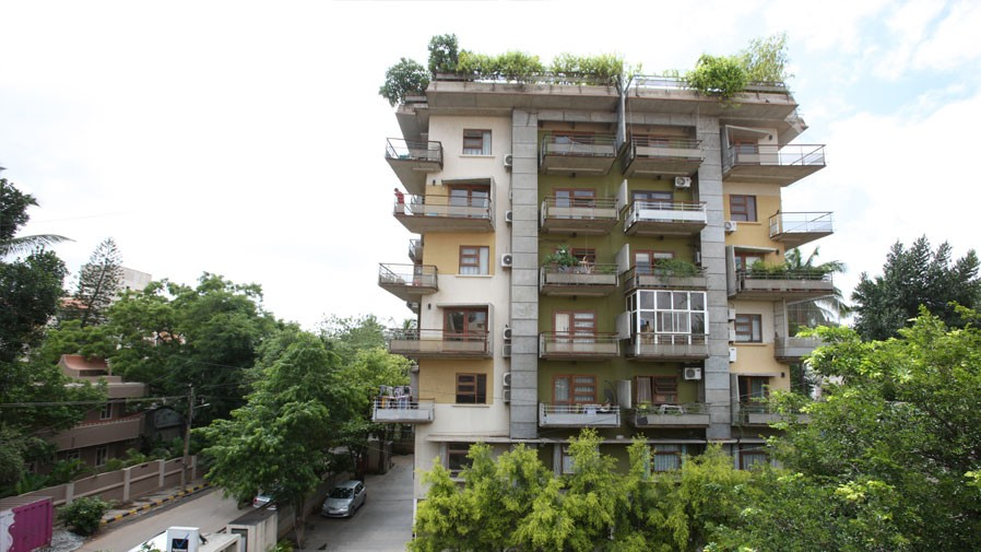Vaishnavi Symphony building view | Ready to occupy 3 BHK flats are for sale in Malleshwaram, bengaluru