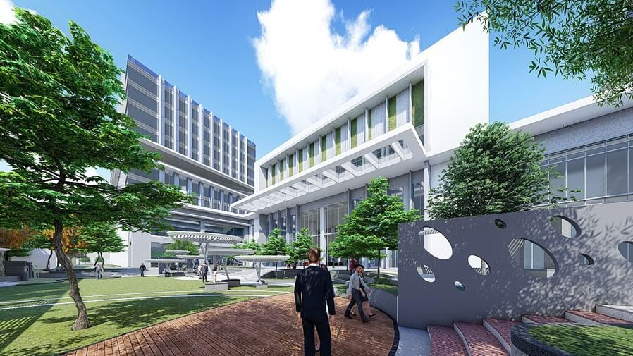 Vaishnavi Tech Park common walk area | Commercially available Office Space is now ready to occupy at Sarjapur Road, bengaluru