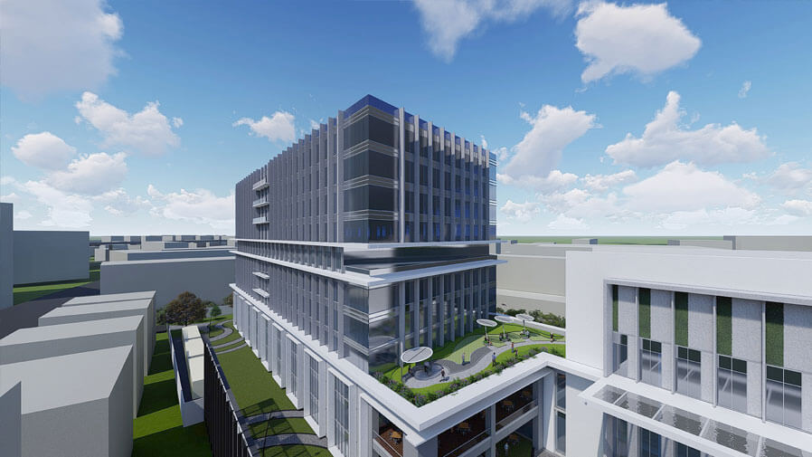 Vaishnavi Tech Park top side view | Commercially available Office Space is now ready to occupy at Sarjapur Road, bengaluru